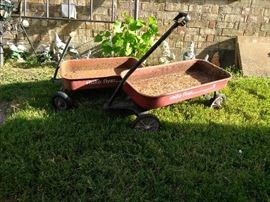 Vintage Radio Flyer Wagons, 1 standard, 1 small