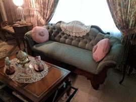 Antique setee and table