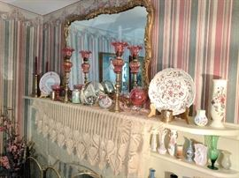 Variety of glass collectibles