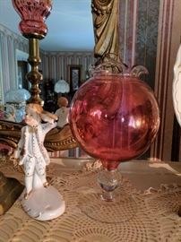 Large Collection of Red Glass