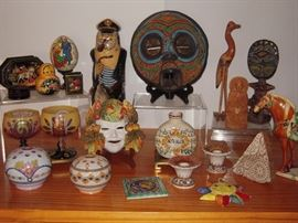 Just some of the items from our travels