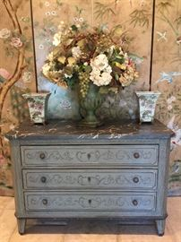Wisteria Hand-Painted Chest.