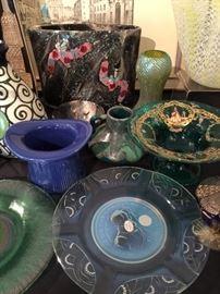 Higgins Glass, Mid Century Art Glass, Murano Glass and more..