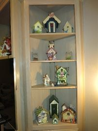 Partial Birdhouse Collection.