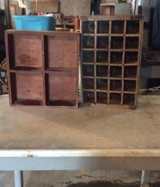 Enameled Table and boxes