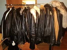 Leather coats!!! (some with fur collars)