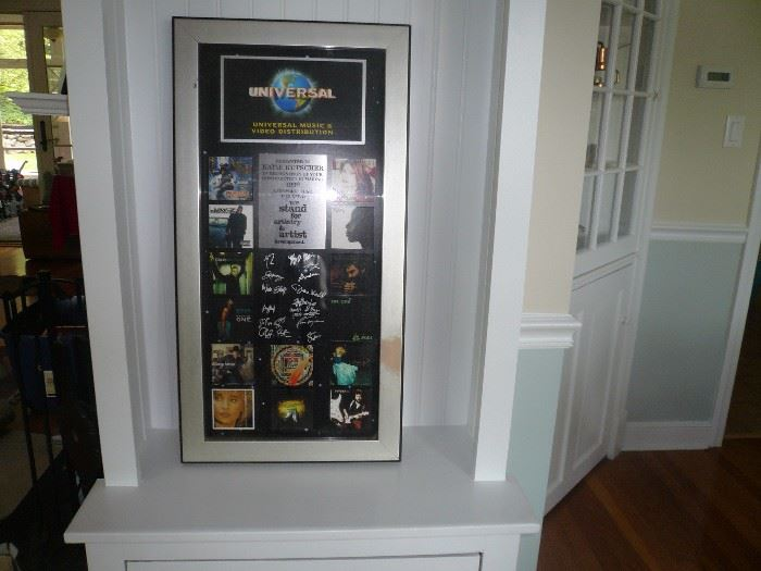 Universal studio's autographed collage Sting, etc