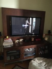 Cabinet from Ethan Allen TV works great!  LG