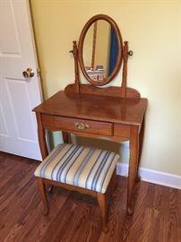Vanity desk with stool