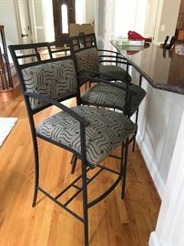 3 super night wrought iron bar height chairs
