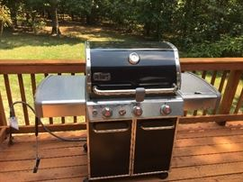 Almost new WEBER Natural Gas Grill with Side Burner