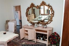 Dining Room Buffet Table with Mirror