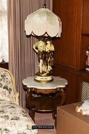 Living Room End Table with Lamp