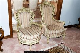 King and Queen Living Room Chairs (Queen Swivels)