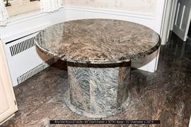 Circular Marble Kitchenette Table