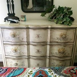 Hand-Painted 3 drawer Dresser