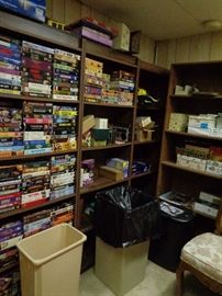 VHS Collection and lots of Home office supplies
