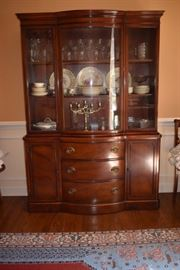 Elegant Describes this Hepplewhite China Cabinet see how beautifully it displays China, Glassware and More!