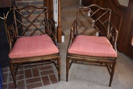 A pair of elegant Chinoiserie Chairs