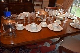 Beautiful China Service for 8, Crystal Stemware and more!
