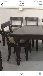 Pottery Barn Rustic Rectangular Table. (Has 2 Leaves)
