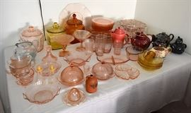 Pink Depression and Collectible Glass