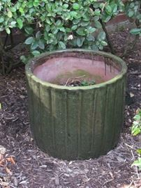 Large Flower Green Pot.  Lots of Pots & Planters