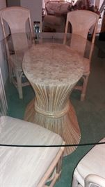 """American Drew """"Split Reed"""" dining table & four chairs"""