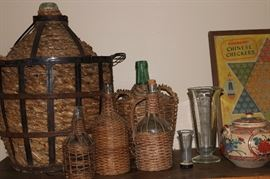 Antique French Demijohn Collection