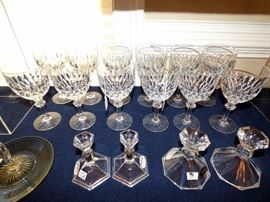 """Gorham """"Althea"""" crystal water goblets"""