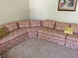 Mid-century sectional sofa (4 pcs)