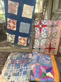 Some extremely great finds this is a small representation from the 1920's home, some quilts just need little cleaning, some have some use wear showing