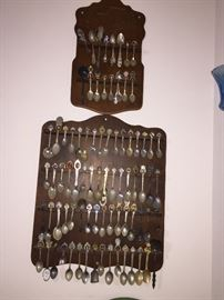 Old souvenir spoon collection