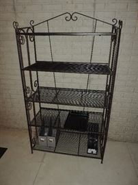 Great Medium Sized Iron Rack...easy to move...the shelves flip up...