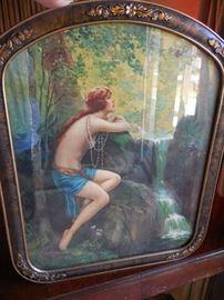 "Vintage Print, Framed. Charles Relyea ""Woodland Gossip"""