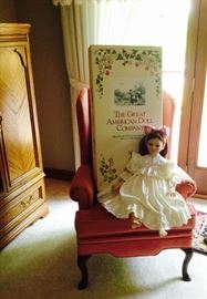 Large Great American Girl Doll - Martina - with Box, Accessories, Certificate of Authenticity, Autographed Photo .... more info on this doll to come.  MINT