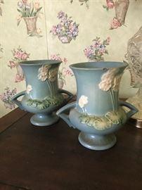 Lovely pair of Roseville vases