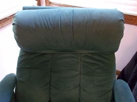 MCM/1980's Suede/Leather swivel recliner! The bomb!