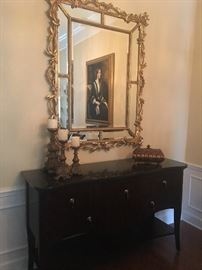 Harverty Buffet and Gold Mirror