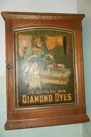 Very Cool,Tin Front Antique Diamond Dyes Cabinet.