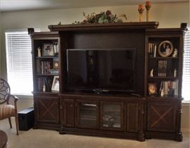Large adjustable entertainment center - tv is sold