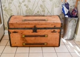 "BUY IT NOW!  Lot # 101, Vintage / Antique Steamer Trunk, $50 (Approx. 32"" L x 17"" W x 18"" H)"