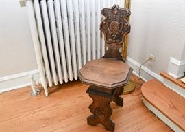 Vintage / Antique Wood Carved Chair