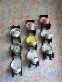 Tea cup collection witha variety of racks