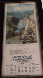 1921 Fox print calendar