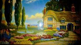 Atkinson Fox garden and house print