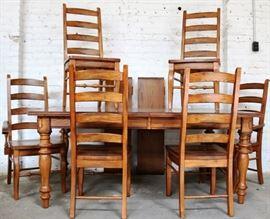 Fantastic oak ladderback dining set