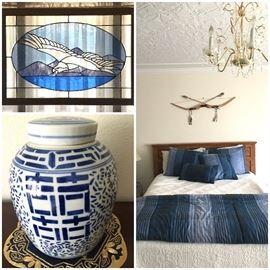 Ginger Jar, Stained Glass, Bedroom Set