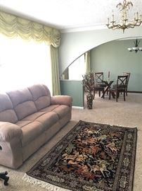 Silk rug, living room