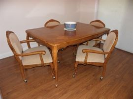 French dining table and four matching chairs